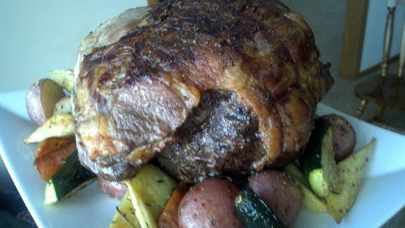 Roasted Leg Of Lamb & Garden Vegetables